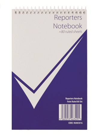 Nu Office Card Cover Reporters Notebook 160 Pages