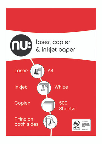 Nu Copier A4 Paper 500 sheet ream