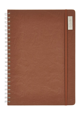 Nu Elite Prestige Tan PU Wiro Journal