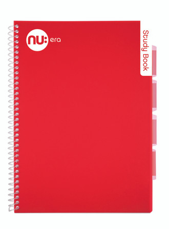 NU Era Bright Study Book Red