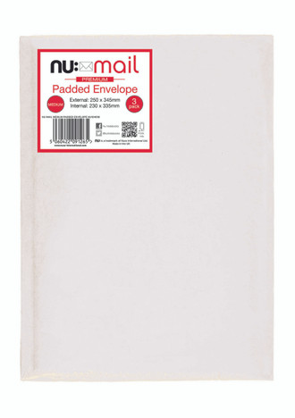 Nu Mail Medium Padded Envelopes - Pack of 3