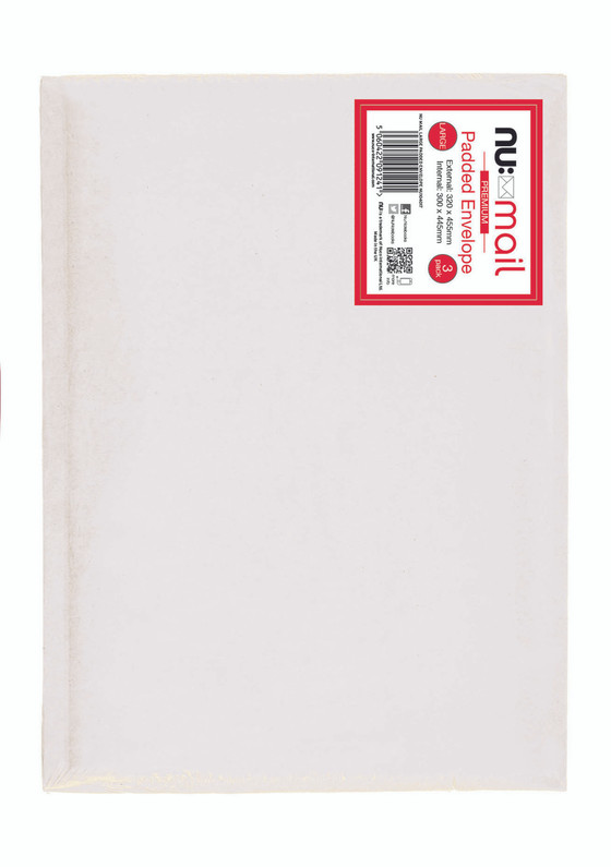 Nu Mail Large Padded Envelopes - Pack of 3
