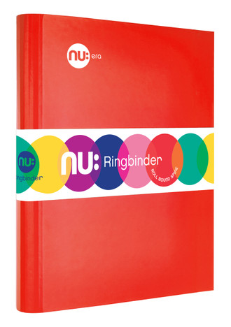 Nu: Craze Brights Ringbinder - Red