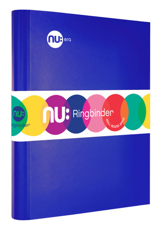 Nu: Craze Brights Ringbinder - Blue