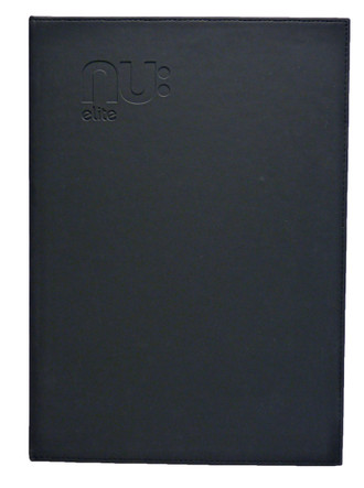 Nu Elite PU Casebound Notebook Black