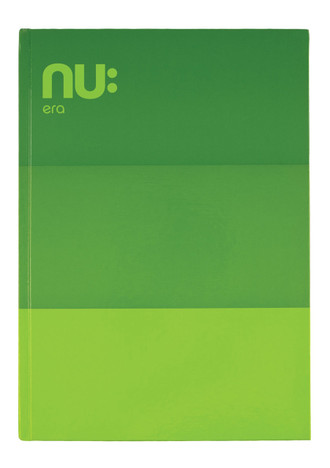 NU: CRAZE THREE TONE CASEBOUND NOTEBOOK - Green