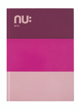 NU: CRAZE THREE TONE CASEBOUND NOTEBOOK - Pink