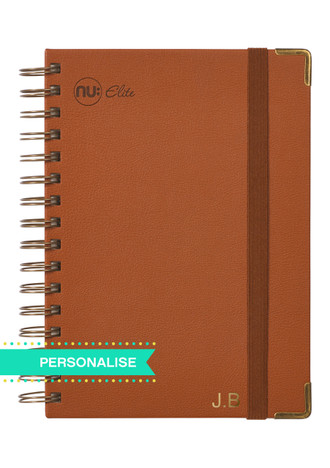 Nu Elite Prestige Tan PU Wiro Journal - A4