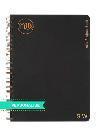 Nu: Kraft Black Project Book (Personalise)