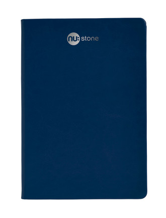 Nu: Stone A5 Vegan Leather Journal - Charcoal/Navy