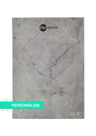 Nu: Stone Stapled Notebook - (Personalise)