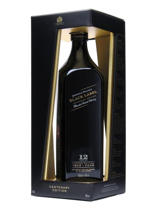 Black Label Price >> Johnnie Walker Black Label Centenary Edition 12 Year Old 750ml