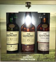 Glenlivet: Single Malt Collection Gift Set Yrs. 12, 15, and Nadurra Oloroso (3 x 750ML)