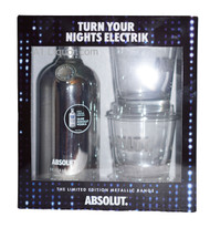 Absolut Electrik - Limited Edition Metallic Silver Range Gift Pack 750ml