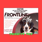 Frontline Plus Flea & Tick for Dogs 89 to 132 lbs (3 Months)