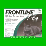 Frontline Plus Flea & Tick for Cats Of Any Weight (3 Months)