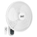 "16"" 3-Speed Wall Fan with Remote Control 230V"
