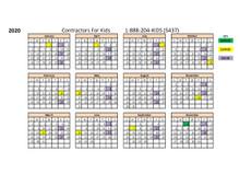 2020 Calendar Raffle