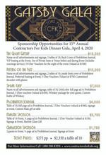 2020 Gatsby Dinner Gala - The Great Gatsby Sponsorship