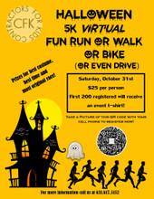 Registration Virtual 5K Halloween Fun Run