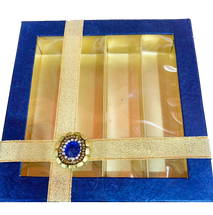 Blue & Gold Holiday Gift Box