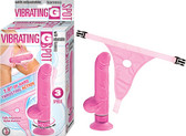 VIBRATING G-SPOT WITH ADJUSTABLE HARNESS - PINK