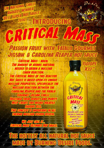 Burning desire Foods Critical Mass hot sauce