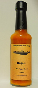 Bajan Hot Pepper Sauce Brighton Chilli Shop 150ml