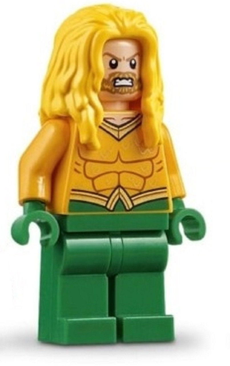 LEGO DC Super Heroes Justice League Minfigure Aquaman with Trident Kids Toys New
