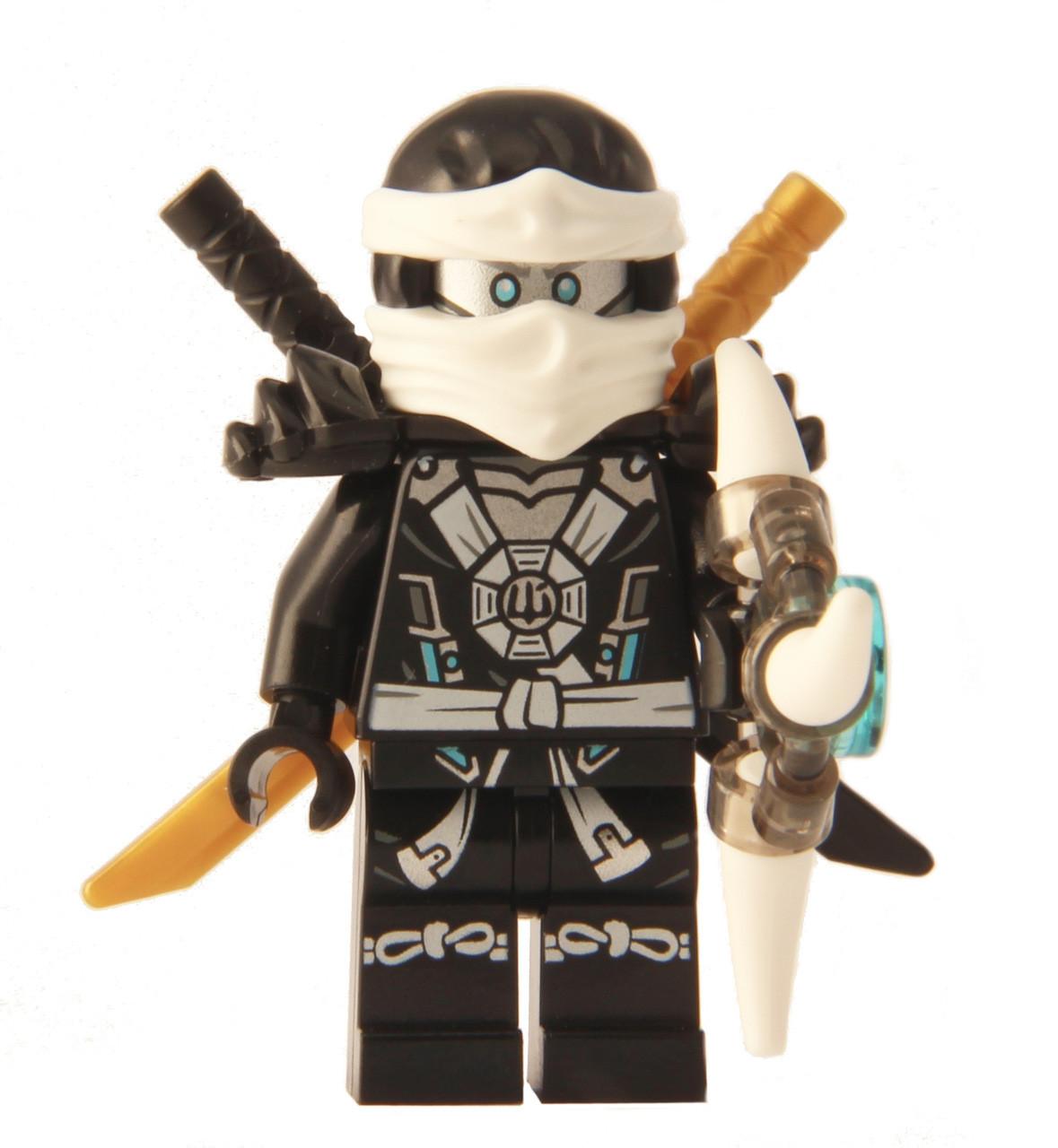 Lego ninjago zane deepstone minifigure 2015 with aeroblade the brick people - Lego ninjago 6 ...