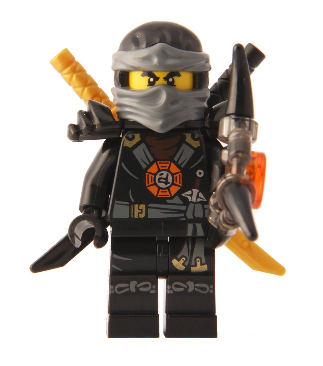 Lego Ninjago Cole Deepstone Minifigure 2015 With Aeroblade