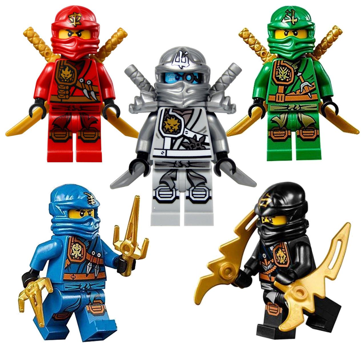 Weapons LEGO Ninjago Minifigures LOT Kai,Cole,Jay,Zane Villains