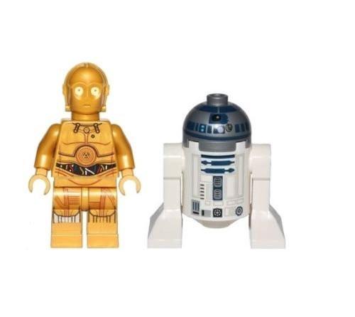 LEGO lot of 6 6tar Wars Good Guy Minifigs Yoda Luke C3-PO Han R2-D2