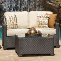 NCI Cabo Wicker Love Seat