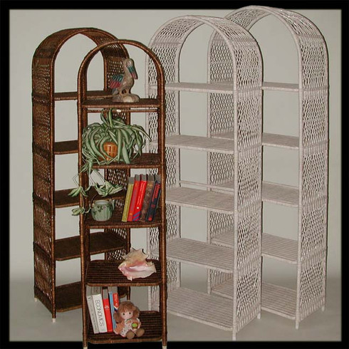 Arches With Shelves   White & Antique wash