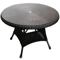 "42"" Wicker Dining Table"