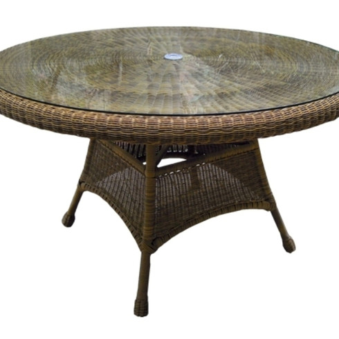 "48"" Wicker Dining Table"