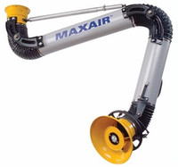 "MAXAIR 4"" Diameter 7' Painted Steel Hanging Fume Arm"