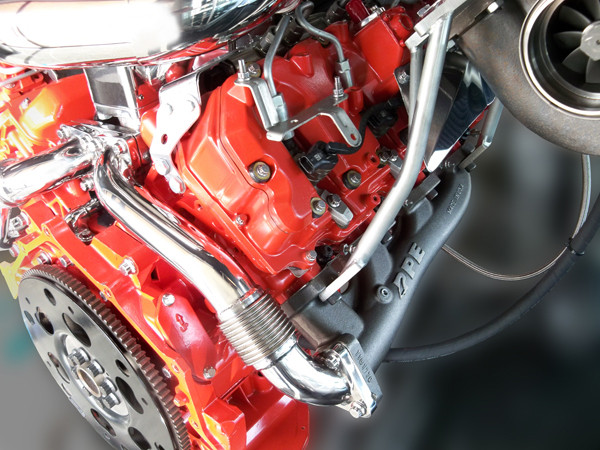 PPE High Flow Exhaust Manifolds with Up-Pipes Duramax 2004