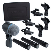 SHURE DMK57-52 Drum Classic Mic Kit with Case, Clips & A56D Mounting System