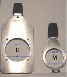 Times Square 'B' or 'M' ETC Source 4 ellipsoidal gobo pattern holder