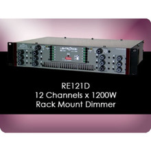 LIGHTRONICS RE121D 12 Channel 14400w Total Rackmount Dimmer with Edison Output