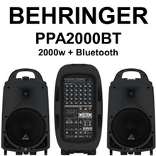 BEHRINGER PPA2000BT 8 Channel 2000w Compact Bluetooth PA System $20 Instant Coupon Use Promo Code: $20-OFF