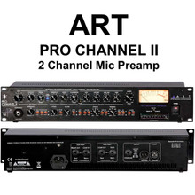 "ART PRO CHANNEL II Discrete Class ""A"" Tube Rackmount Mic Preamplifier $10 Instant Coupon use Promo Code: $10-OFF"