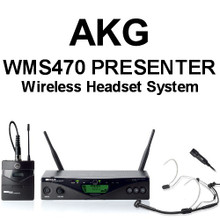 AKG WMS470 PRESENTER Headset and Lavaliere Wireless Mic System