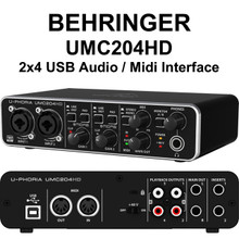 BEHRINGER U-PHORIA UMC204HD 2x4 USB Audio / MIDI Interface $5 Instant Coupon use Promo Code: $5-OFF