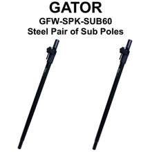 GATOR GFW-SPK-SUB60 All Steel Pair Adjustable Aluminum Steel Sub Poles $5 Instant Coupon Use Promo Code: $5-OFF