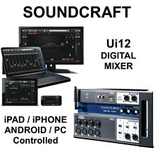 SOUNDCRAFT UI12 Tablet PC Smartphone Controlled Digital WiFi Mixer $10 Instant Coupon use Promo Code: $10-OFF
