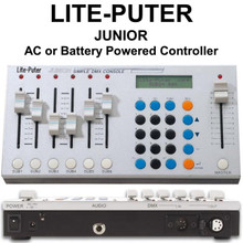 LITE-PUTER JUNIOR DMX 6 Channel 40 Scene AC or Rechargeable Battery Light Controller $10 Instant Coupon Use Promo Code: $10-OFF