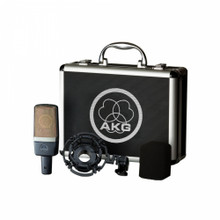 AKG C214 Large Diaphragm Studio Mic with Shockmount, Windscreen & Case